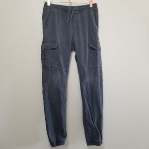 Old navy cargo style jogger pants charcoal (d)